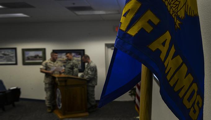 First Marine Graduates USAF AMMOS