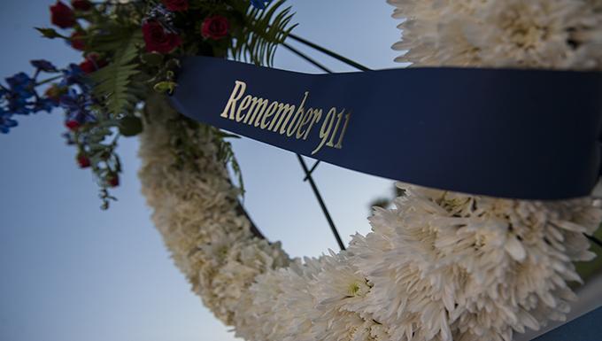 Airmen stand for 9/11 memorial