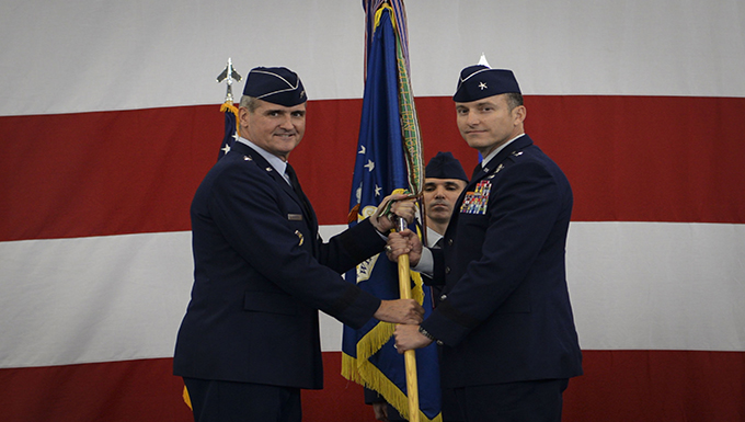 57th Wing bids farewell to Leavitt, welcomes Novotny