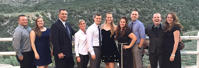 Family Medicine Residency (FMR) residents at a scenic overlook