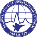 small CIP logo: Clinical Investigation Program; Nellis AFB